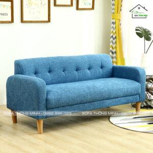 Ghế sofa băng mini màu xanh đậm Tb 12