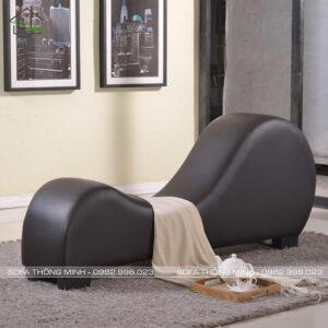 Ghế sofa love màu đen mã ty-08