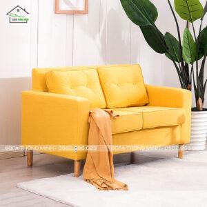 Ghế sofa văng mini màu vàng tb 18