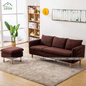 Sofa băng độc đáo màu nâu TĐ-15