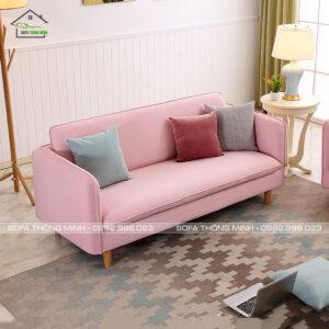 Sofa băng màu hồng đẹp giá rẻ chất lượng TB-07