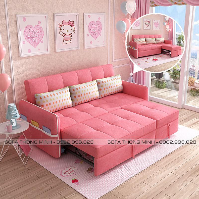 Sofa Giường Đa Năng Màu Hồng
