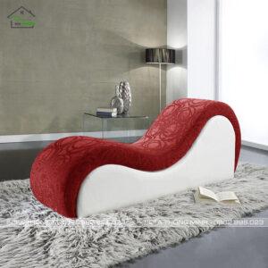 Sofa love cao cấp màu trắng đỏ ty-13