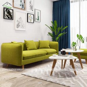 Sofa văng đẹp TB 21 màu xanh tím