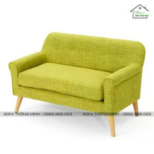 Ghế sofa văng đơn giản màu vàng nhỏ gọn TB-10