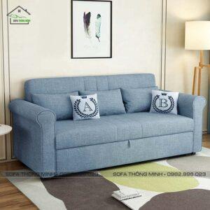 sopha giường kéo đẹp tgk 14 màu xám xanh