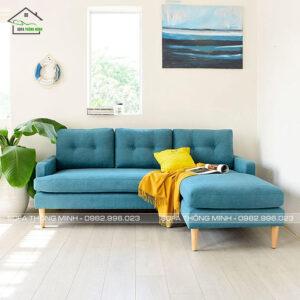 sofa chữ L màu xanh TM-G20
