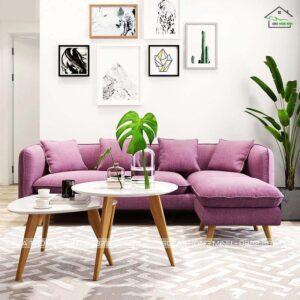 sofa góc màu tím tinh tế tm-g22