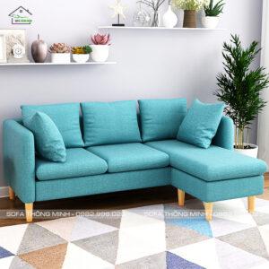 Sofa L chân gỗ đẹp TM-G21