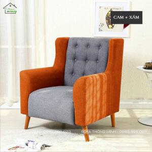 Ghế sofa đơn đính nút SD-002