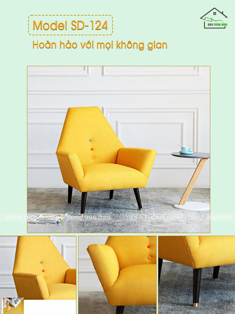 Ghế sofa đơn hiện đại, tinh tế SD-124