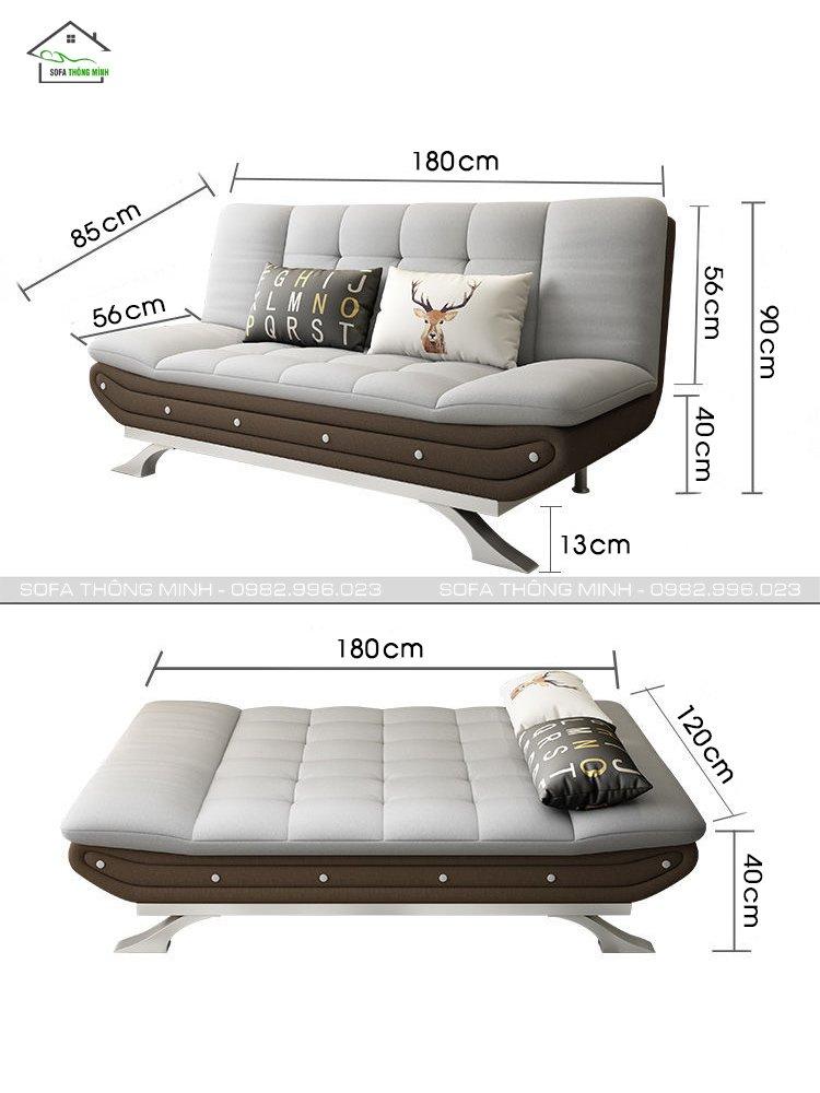 kích thước sofa giường bật