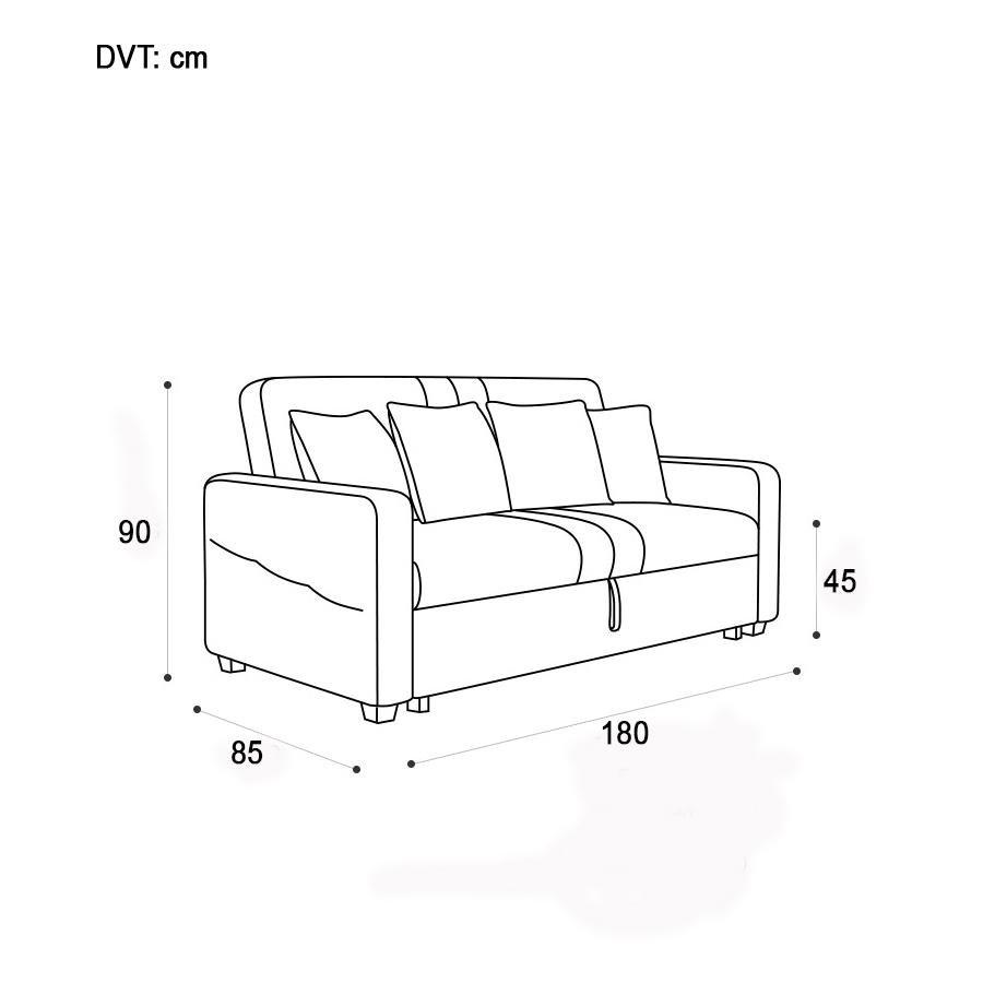 kích thước sofa giường kéo